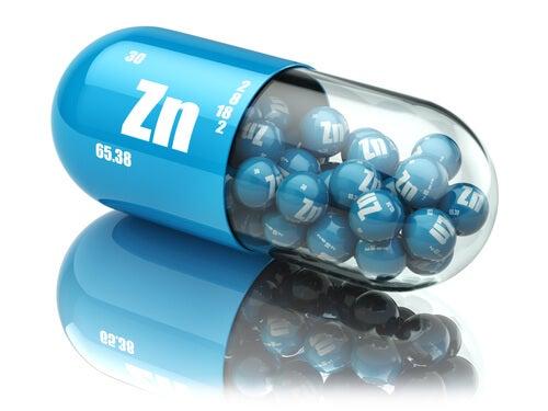 Pastillas con el símbolo del zinc