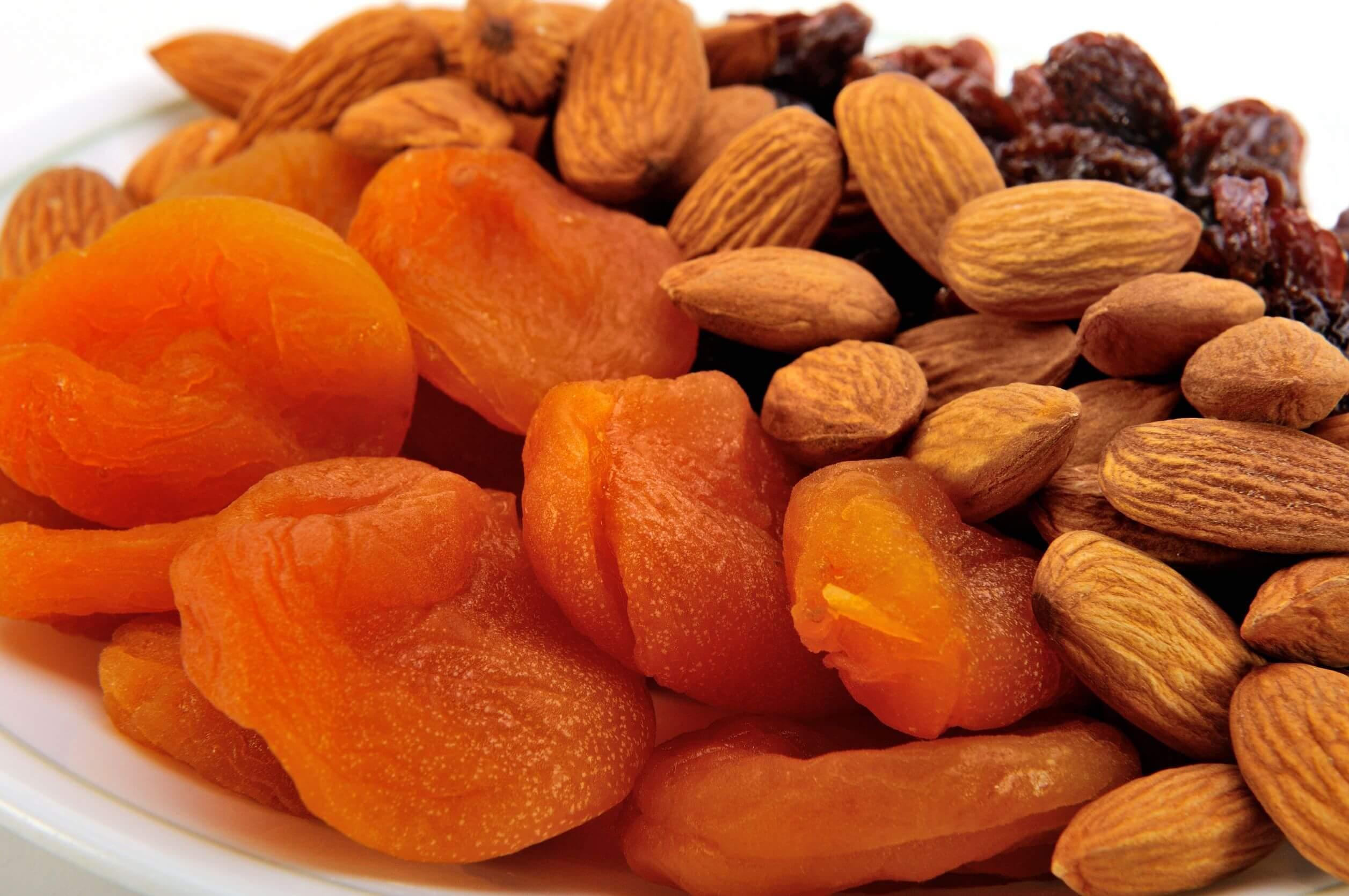 Tu desayuno puede incluir frutos secos.