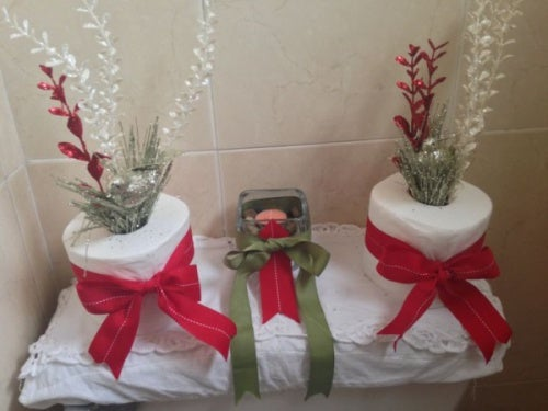 decoracion,navideña,en,el,baño