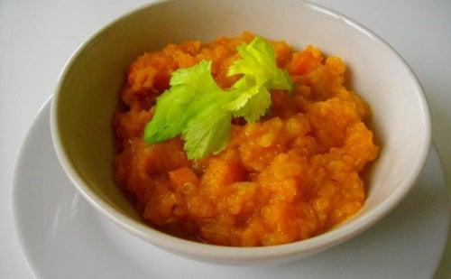 puré de calabaza y zanahoria