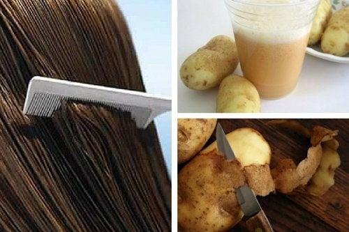 Cómo utilizar el jugo de patatas para hacer crecer el cabello