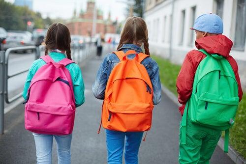 higiene postural para las mochilas