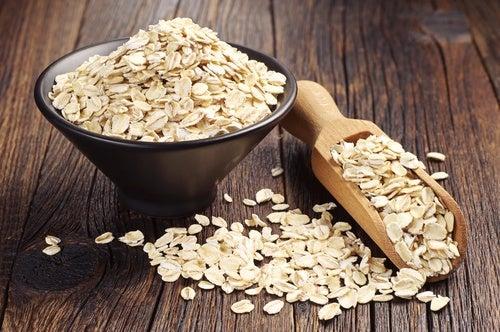 copos de avena: barras de granos y semillas sin gluten
