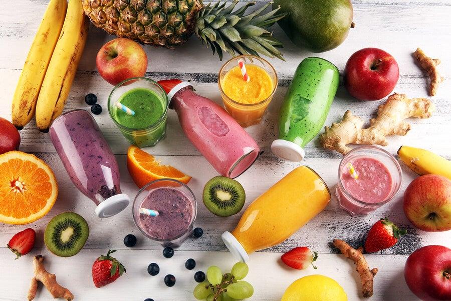 Zumos de frutas.