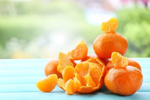 Mascarillas a base de mandarina para rejuvenecer la piel