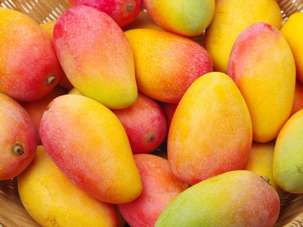 Mangos rojos y amarillos.