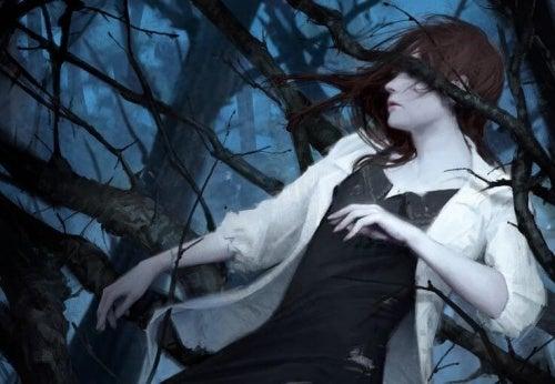 mujer-atrapada-entre-espinas representando el arrepentimiento