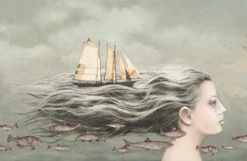 mujer-con-barco-en-el-pelo