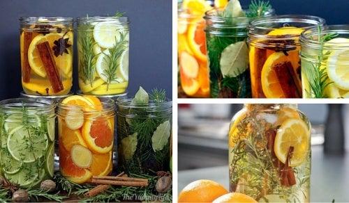 Prepara aromatizantes caseros naturales