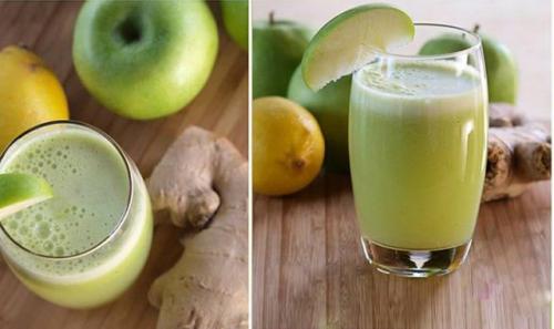 Licuado de manzana verde, miel y limón para tus pulmones