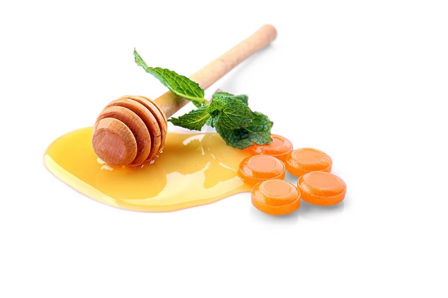 Caramelos de miel y limón caseros.