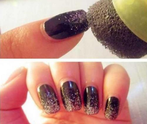Destellos uñas.