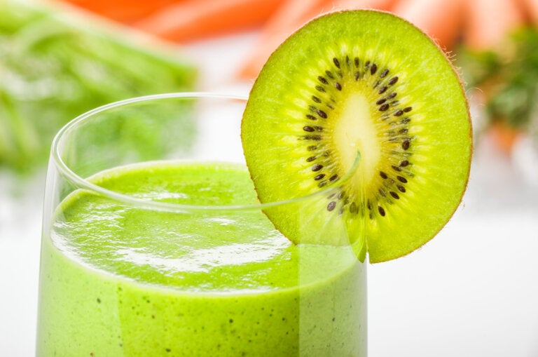 Poderoso licuado de melón y kiwi para adelgazar