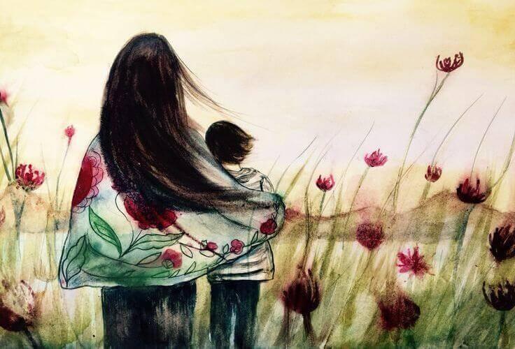 Mujer con un niño