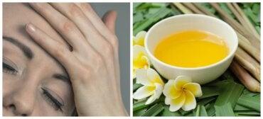 Té de hierba de limón para aliviar el dolor de cabeza y las migrañas