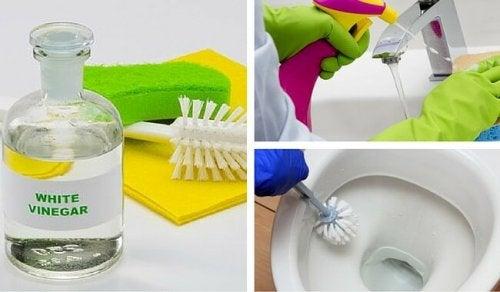 6 formas de limpiar tu baño con vinagre blanco