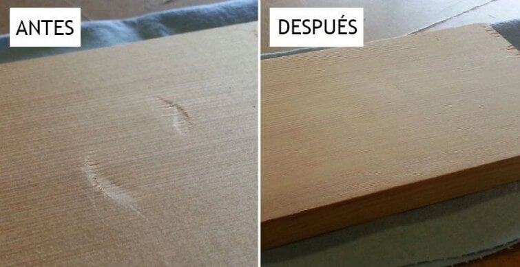 Un truco eficaz para quitar abolladuras de la madera en 30 segundos