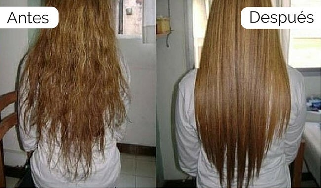 Alisado de cabello casero