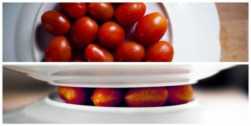 Pelar más fácil tomate cherry