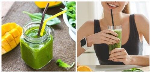 5 formas de preparar licuados con espinacas para bajar de peso
