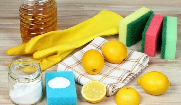 Detergente, limón y sal