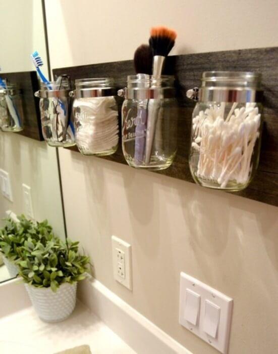 Organizador frascos de vidrio