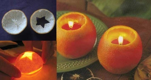 Velas de naranja