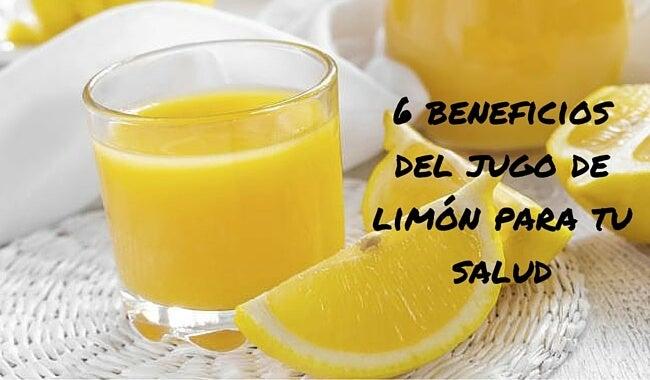 6 beneficios del jugo de limón para tu salud