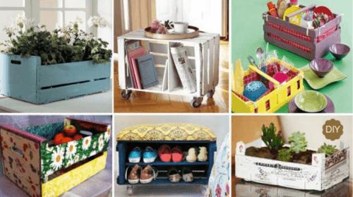 20 Ingeniosas Formas De Reciclar Los Cajones De Fruta En Casa - Cajas-de-fruta-recicladas
