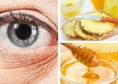 Mascarilla natural de piña para atenuar las arrugas bajo los ojos