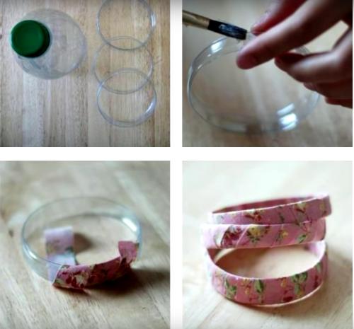 Reciclar pulseras con botellas de plástico