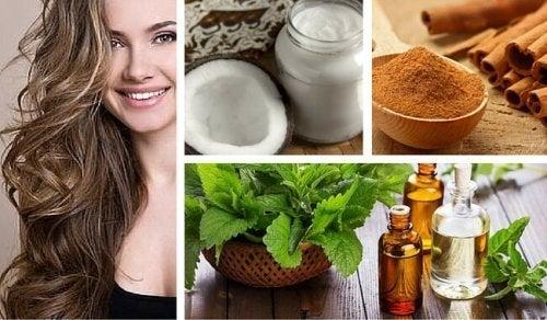 Remedio de coco, menta y canela para estimular el cabello