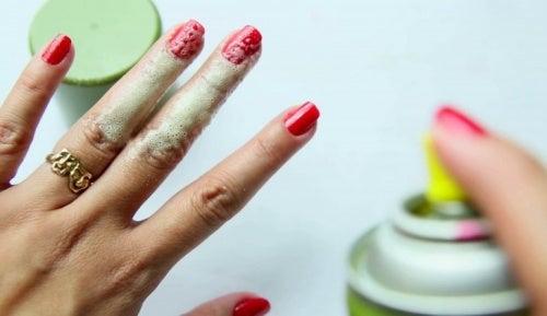 aerosol para secar tus uñas