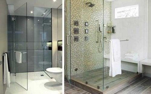 Decorar el baño con cristal