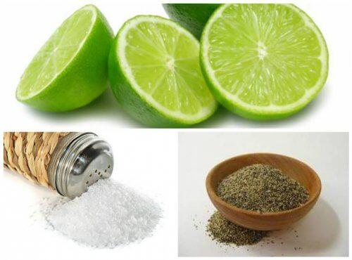 7 problemas de salud que se pueden solucionar con limón, pimienta y sal