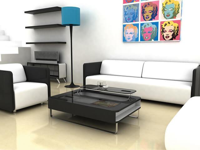 Racionalizacion de muebles para limpiar rápido.