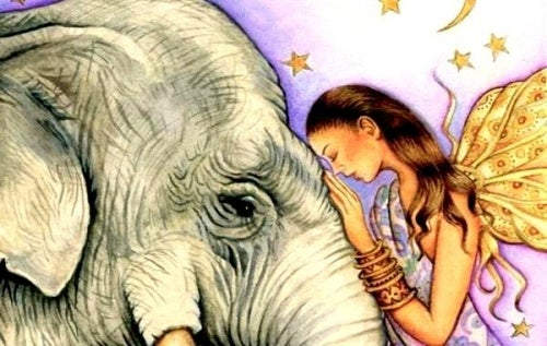 good-manners-and-woman-petting-elephant