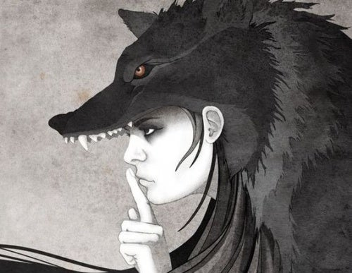 mujer-lobo-silenciando-opinión