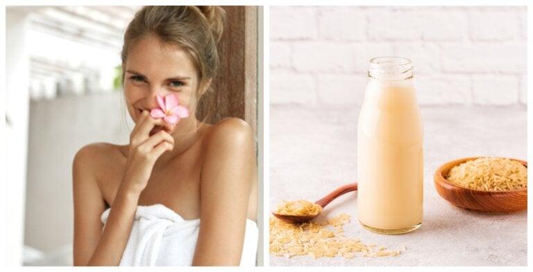 7 usos que le puedes dar al agua de arroz en tu salud y belleza