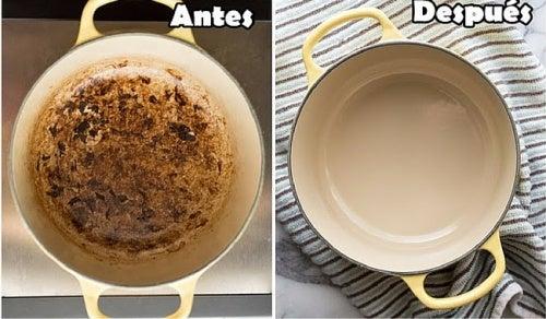 8 tips caseros para eliminar restos de comida pegada en las ollas