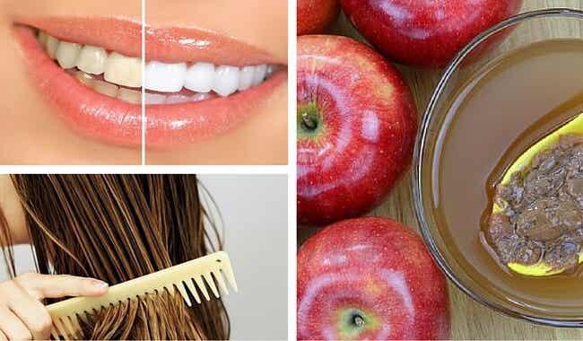 8 usos cosméticos que le puedes dar al vinagre de manzana