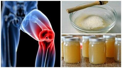 Cómo preparar remedios con gelatina para calmar el dolor en las articulaciones