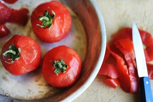 Cáscaras de tomate