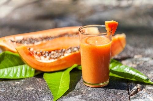Resultado de imagen para Licuado de papaya con avena