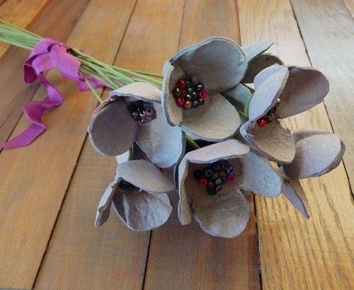 Cartón-flores