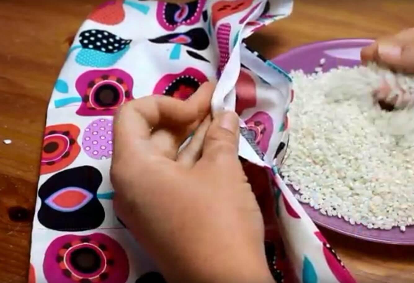 Proceso de elaboración de saco térmico de semillas