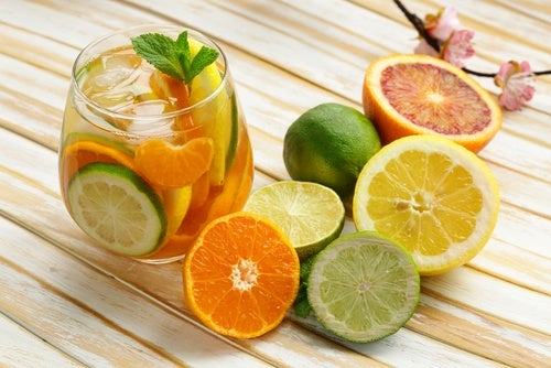 Limón, naranja y pomelo