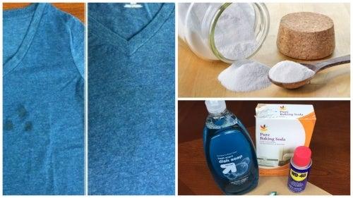 como quitar grasa de ropa delicada