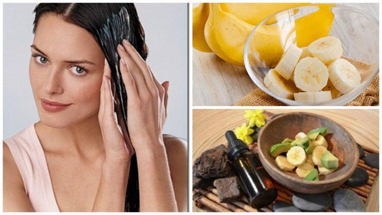 Consigue un cabello sedoso y brillante con esta mascarilla de banana y aguacate