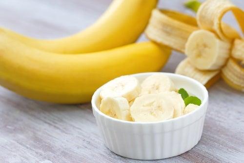 Mascarilla de plátano y aceite de coco